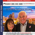 A RECEPTION HONORING ROGER & NYDIA STONE - Tuesday, October 29th 8:00 PM